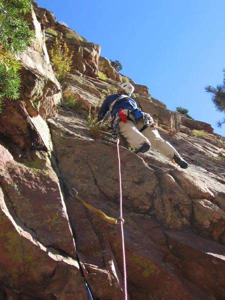Starting the climb.