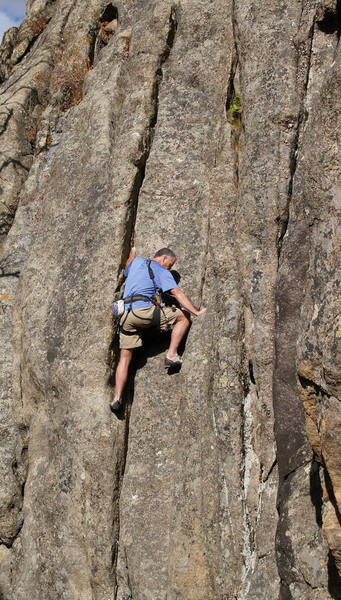 Bob working up the inset corners.  Photo by [[11257]].