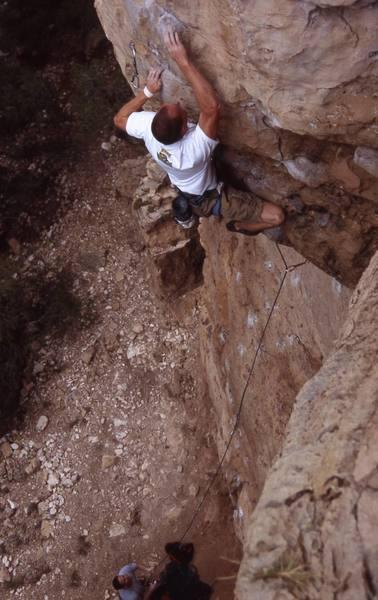 Aaron Branch working the crank part of the overhang