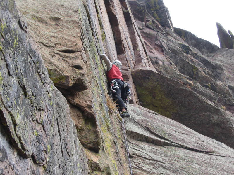 Nearing the crux.  Photo by Tonya Riggs