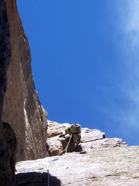 Mantling a large block on pitch 3