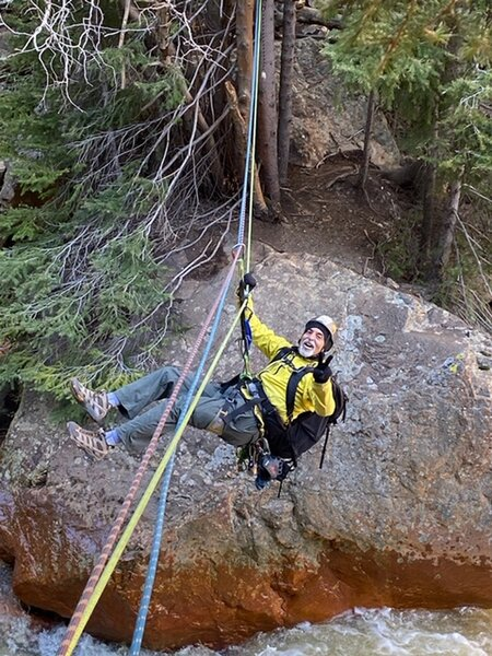 John Sasso on the Tyrolean.<br> <br> Permission to post by Wendy Dueschle.