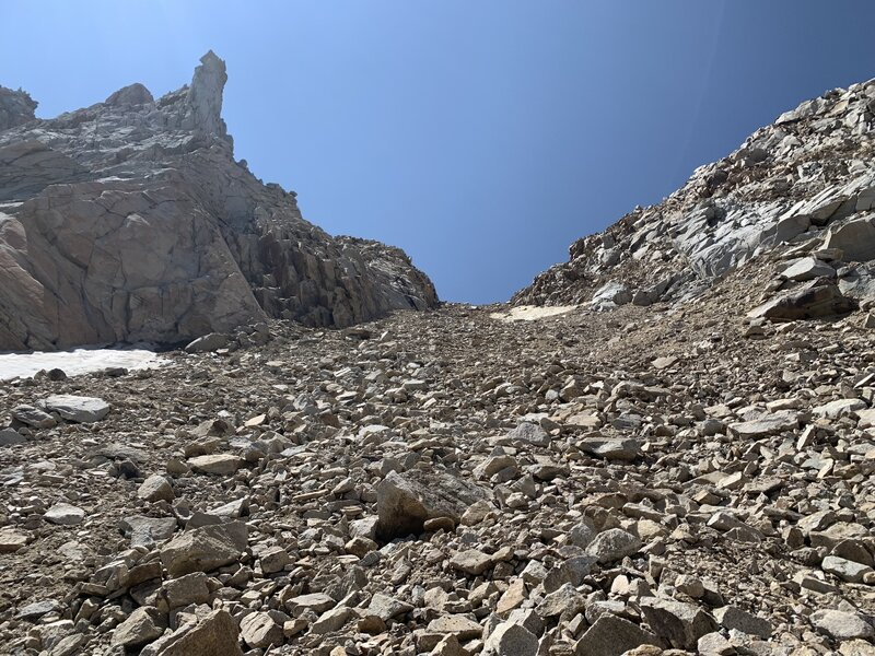 Approach to start of climb - unpleasant.
