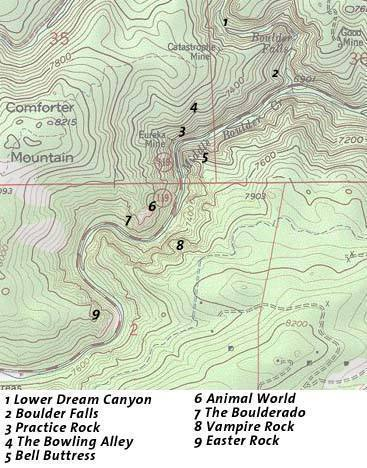 Map of BC from Dream Canyon to Easter Rock.