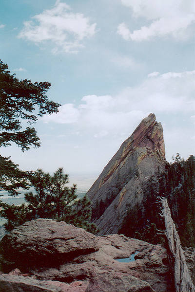 Picture taken of the Third from the descent trail of the First Flatiron.