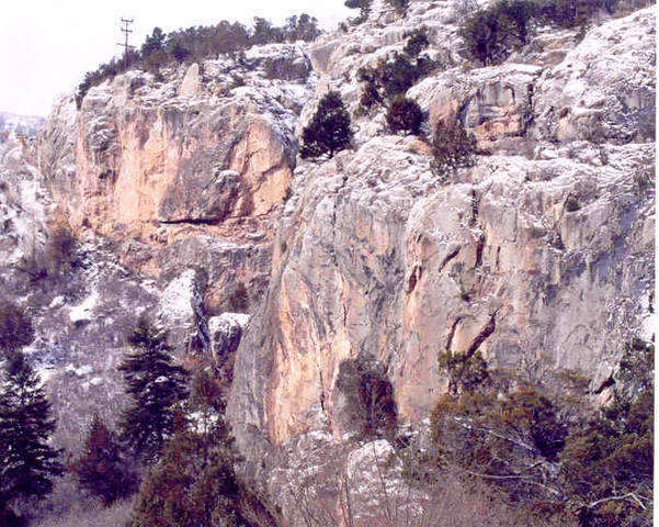 Overview of the No Name Crag