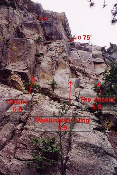 Eds.  Note, this rappel may be a rope stretcher with a short downclimb with a 50m rope.  Consider 2 ropes or a 60m rope.