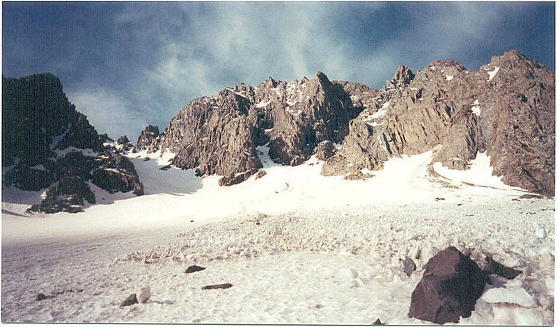 Beneath the north face of Mt. Sneffels.