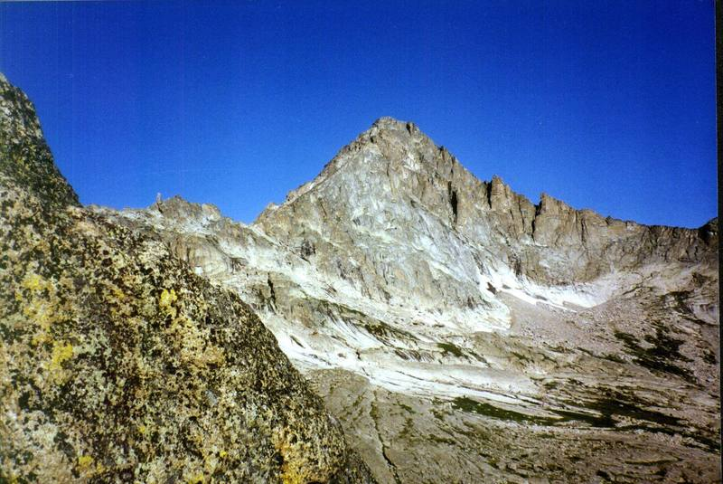 McHenry's Peak as seen from half way up Spearheads north ridge