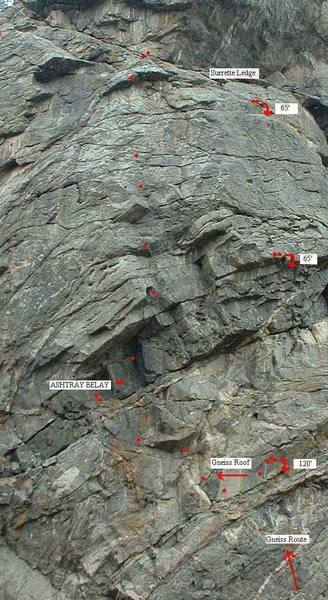 Beta photo of Gneiss Roof on Mission Wall taken from Wall of the '90s.