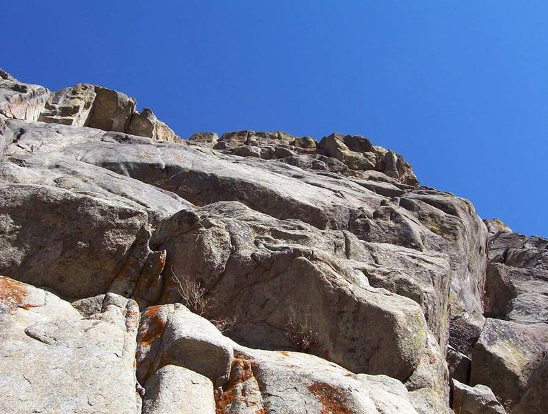 Looking up the immaculate slab of Radlands.
