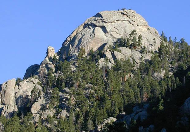 Batman Rock and Batman Pinnacle from the southeast.