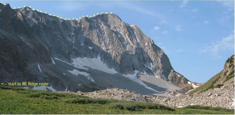 Capitol Peak showing NE Ridge.