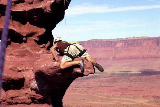 "Aaron Shupp demonstrating ""jump 'n' hump"" method on diving board"