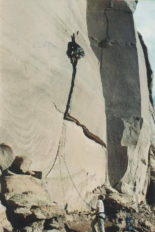 Mark Tjaden on the 1st ascent of Suzi Has No Choice.
