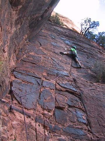 Bill leading the first hard pitch (P2 in the description), the Black Face.