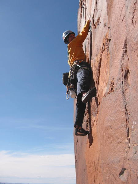 Climber from Salt Lake on the route.
