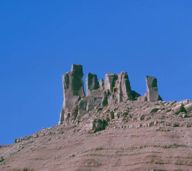 Sister Superior group from the east.  Unknown Sister is the distinctive tower at right.  Larry Hamilton photo.