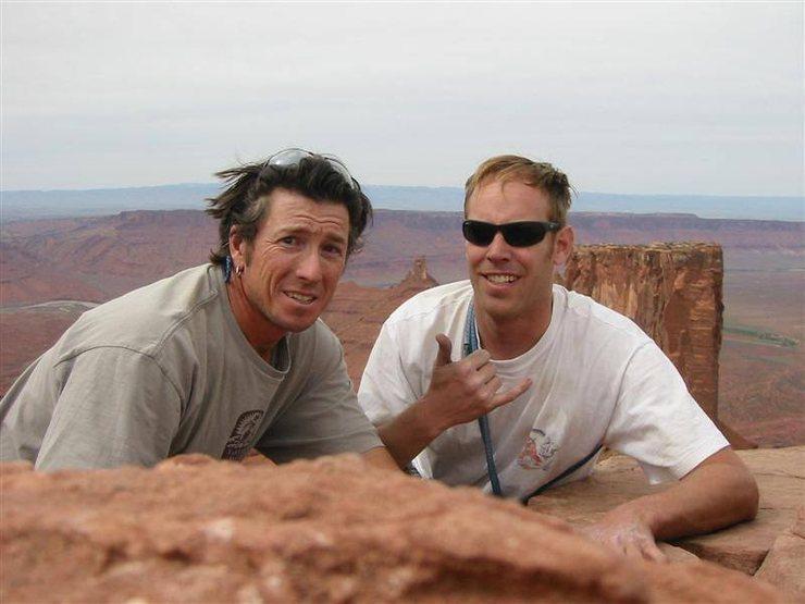 Joel Baron and Bo Johnston at the north face rap achors!