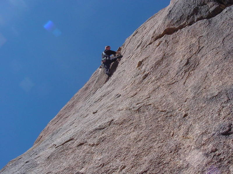 David going over the bulge near the top.