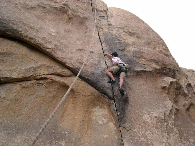 at the crux low on the route