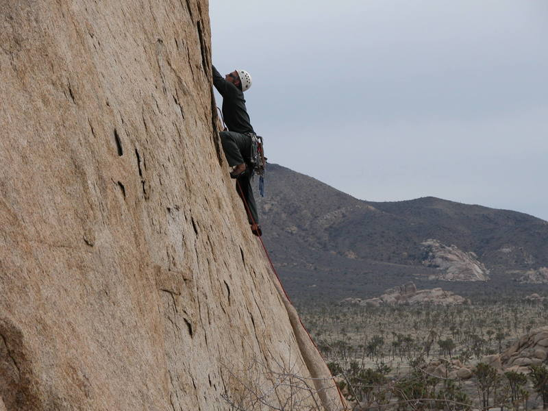 Graham moving past the bolt & crux.