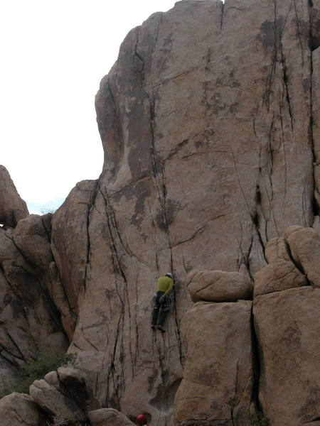 John from Santa Barbara crusing up Vorpal Sword <br> on a windy sunday.