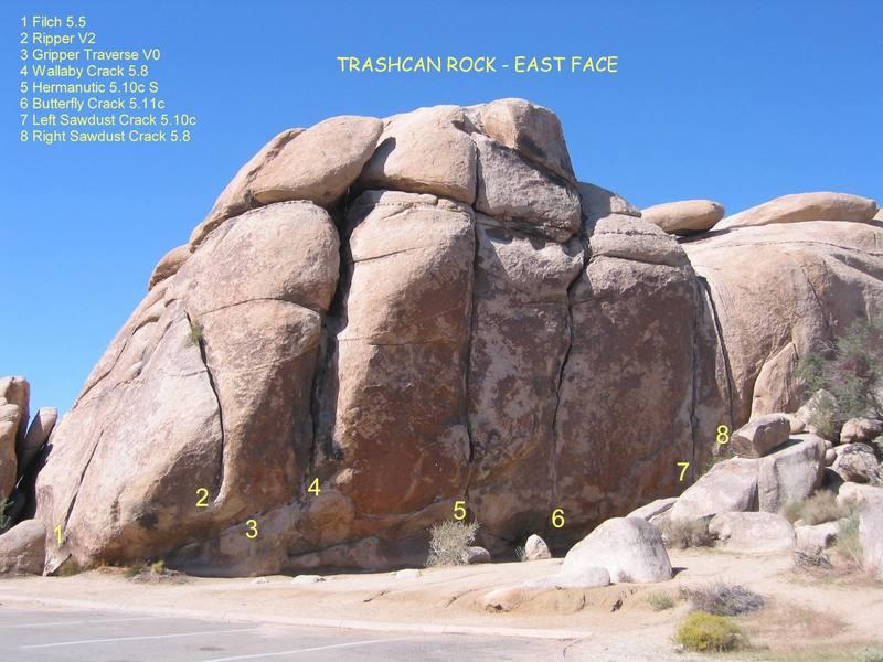 Trashcan Rock - East Face
