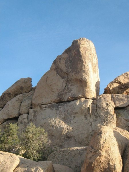 Jam or Slam Rock (northeast face), Joshua Tree NP