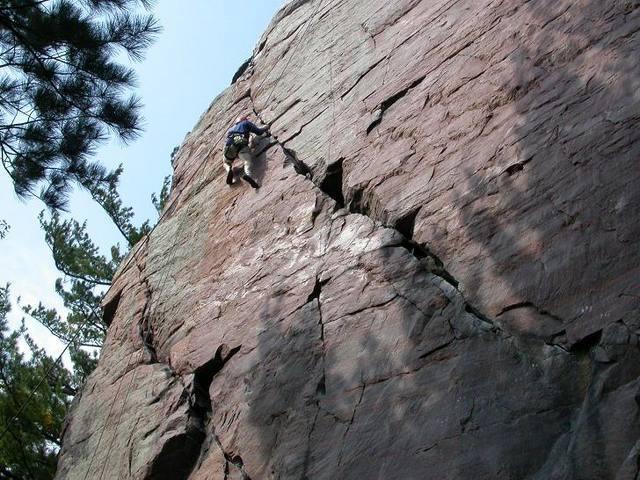 Tom Anderson-Brown inching toward the top of Upper Diagonal.