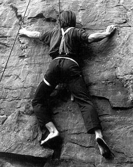 My first barefoot ascent in '71