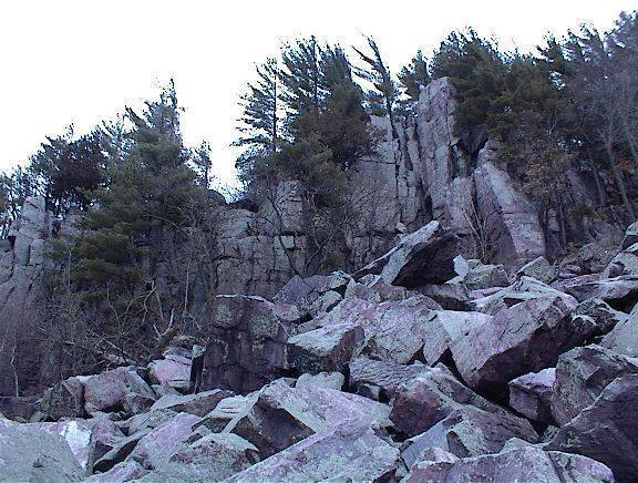 Birthday Rocks area as seen from the railroad tracks