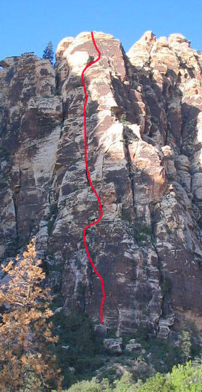 Frigid Air Buttress from the approach trail