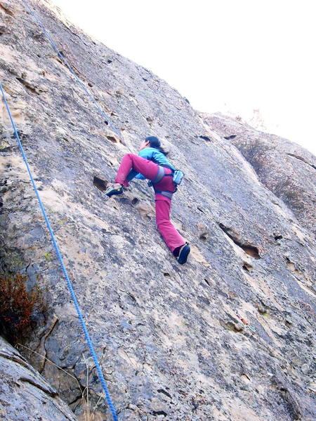 Naoko high stepping her way up...