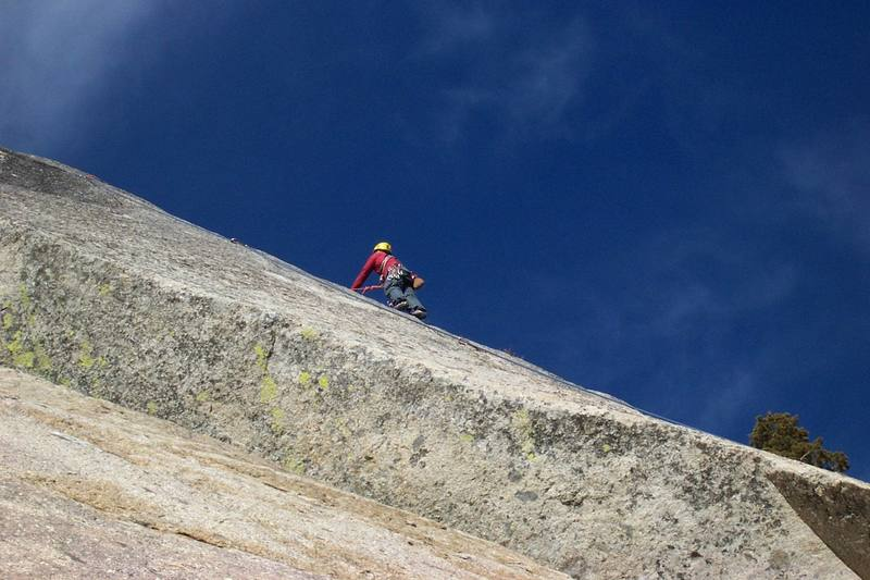 Brad on insidious crack from the bottom of jellyroll arch.