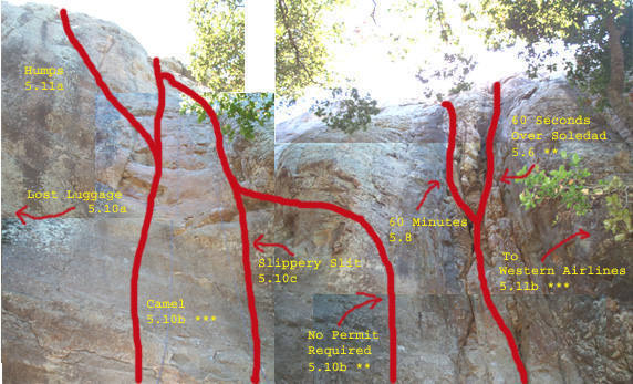 Here's a photo montage of the area around Camel (far left from the parking area, or furthest south)