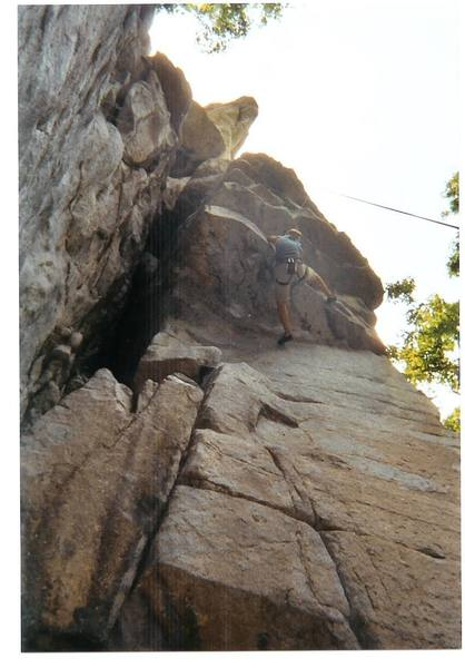Jake the snake right under the second roof. Killer Climb!!!