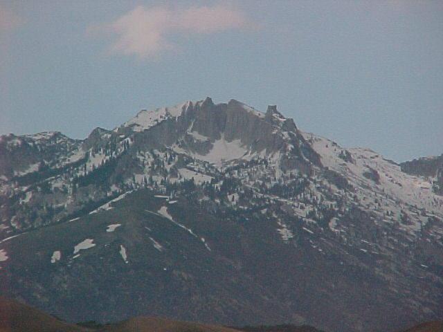 Lone Peak Cirque, as seen from Redwood road, Veterans Memorial Park