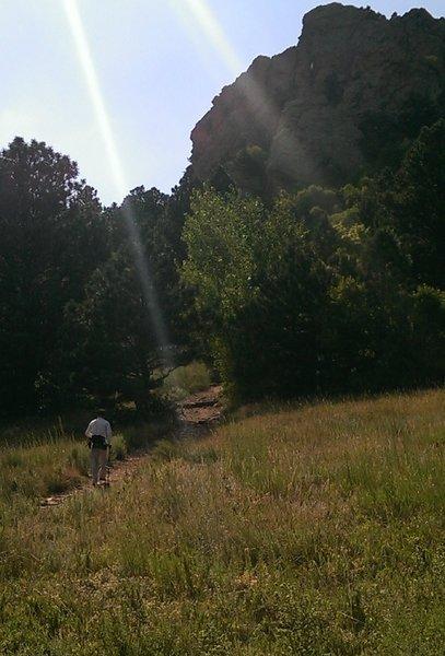 Starting up the Mount Sanitas Trail