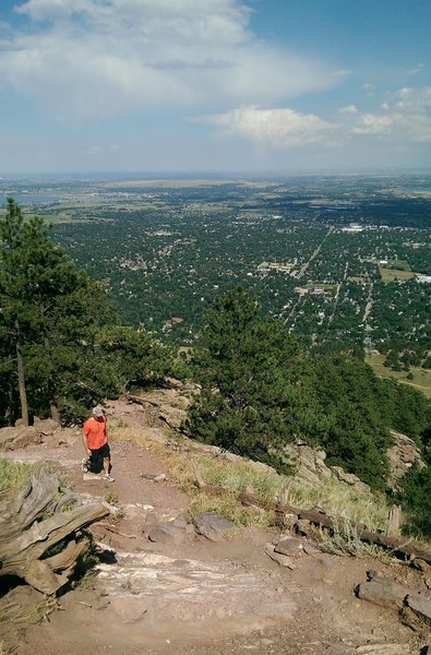 Views east over the town of Boulder