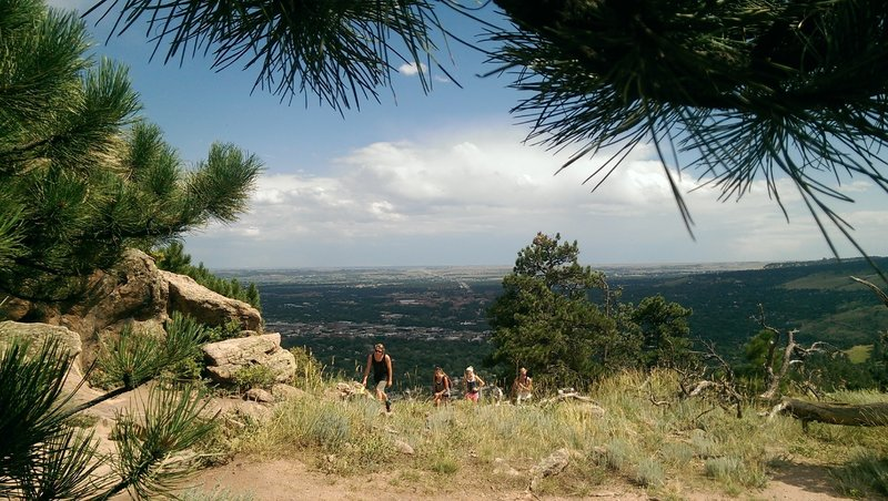 The Mt. Sanitas trail can become crowded