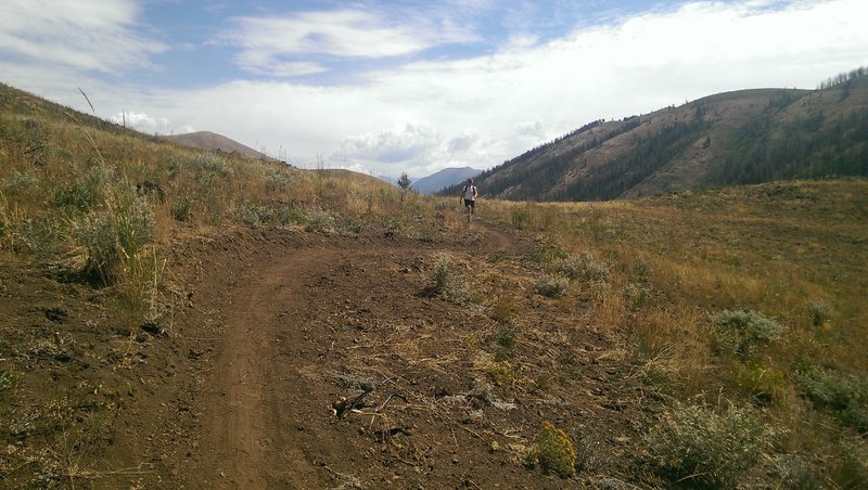 Dry dusty conditions on Imperial Gulch