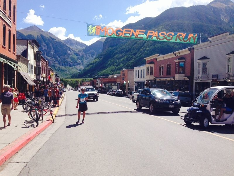 Just a hop over the hill from one iconic mountain town to another. Michelle celebrates her arrival in Telluride!