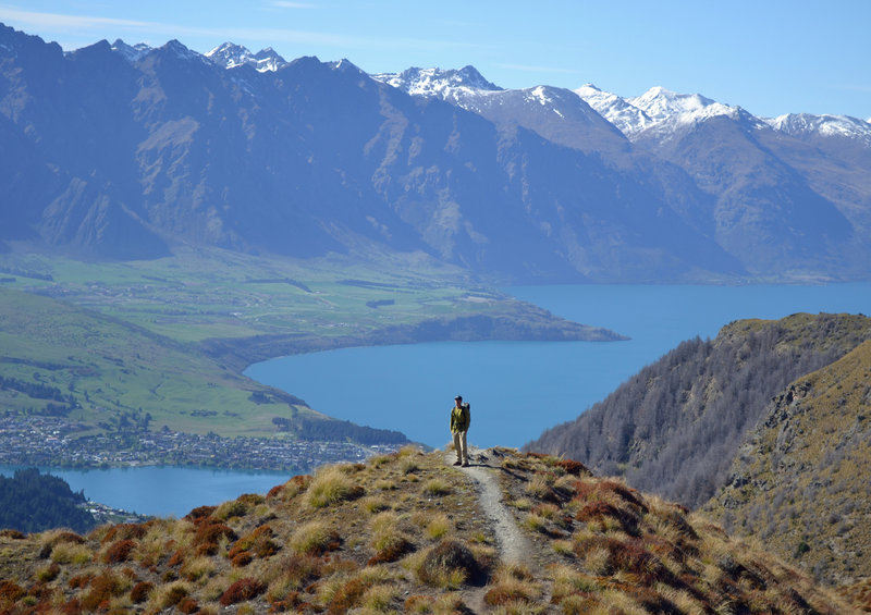 Awesome views of Lake Waktipu, Queenstown and the Remarkables.