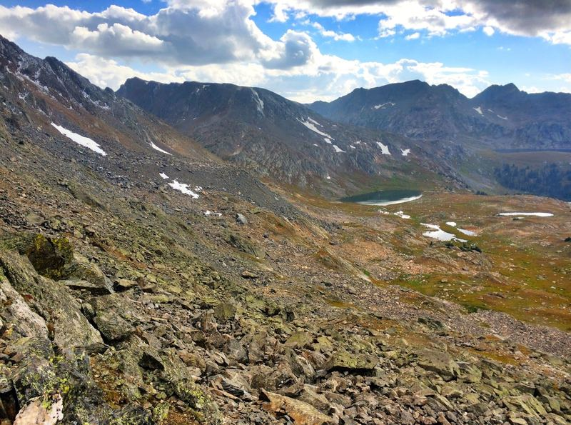 Looking over the west side of Fancy Pass