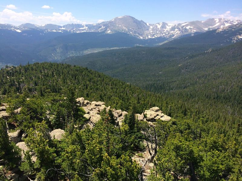 Views opening up of the Indian Peaks