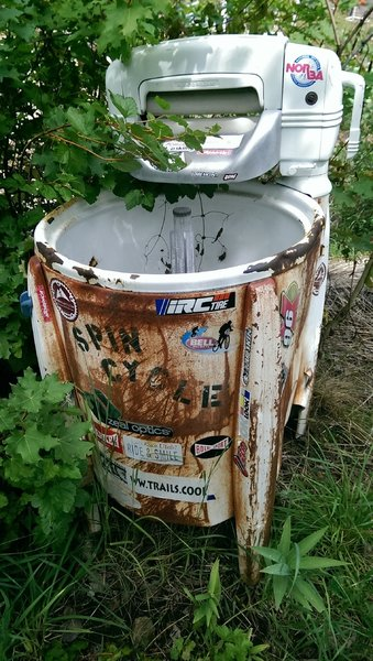 Old fashioned wringer washing machine- official mascot for this trail