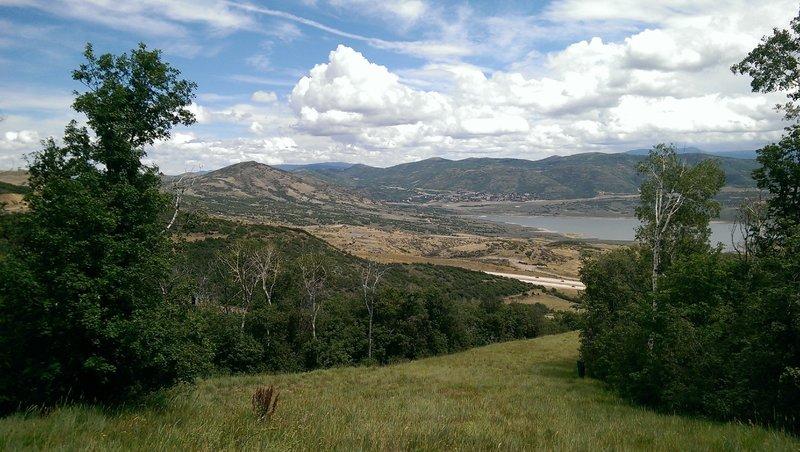 Great views of the Jordanelle Reservoir