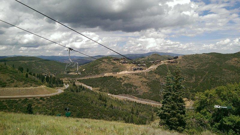 Mountaineer Express chairlift and new hillside development