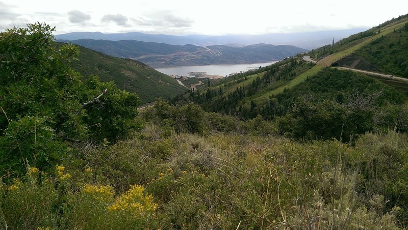 Views of Jordanelle Reservoir from the ridge
